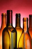 Винные Бутылки крупного плана — Стоковое фото