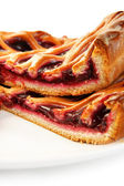 Pieces of cherry pie — Stock Photo