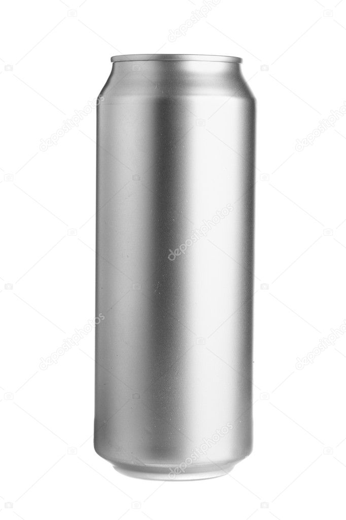 Aluminum beer can isolated over white background — Stock Photo #1431417