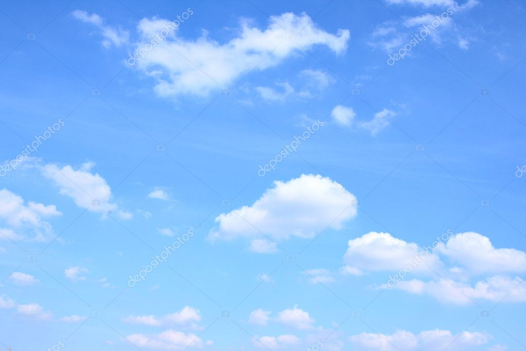 Blue sky and lots small clouds, may be used as background — Foto Stock #1431593