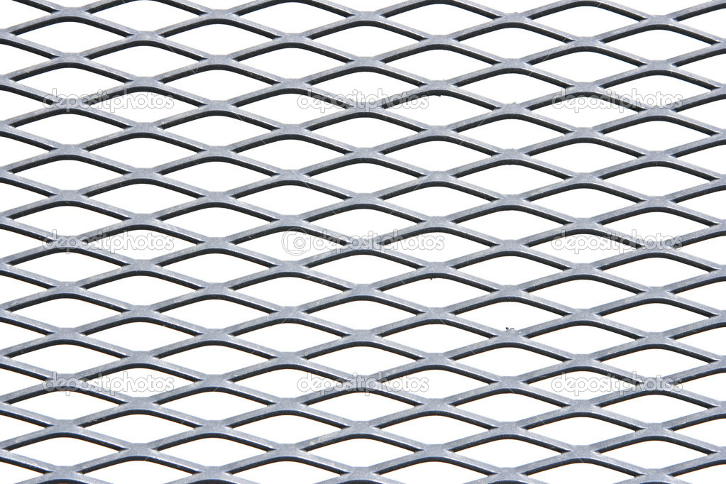 Metal grate isolated over white background — Stock Photo #1432094