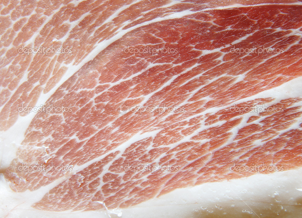 Slice of pork close-up, may be used as background — Stock Photo #1435559