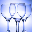 Three empty glasses — Stock Photo