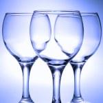 Three empty glasses — Stock Photo