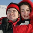 Couple in red — Stock Photo #1440549