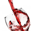 Red wine pour into glass — Stock Photo