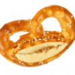 Salted pretzel with cheese — Stock Photo