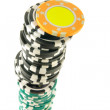 Stack of gambling chips — Stock Photo