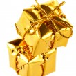 Stock Photo: Golden boxes