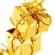 Stock Photo: Three golden boxes