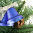 Christmas bells close up - Stock Photo