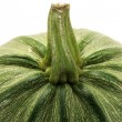 Green ripe pumpkin close up - Foto Stock