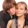 Stock Photo: Portrait of young couple