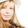 Stock Photo: Portrait of beautiful girl in hat