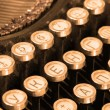 Keyboard of vintage typewriter sepia — Stock Photo