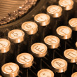 Keyboard of vintage typewriter sepia - Stock Photo