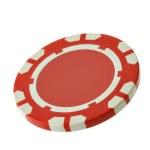Red casino chip — Stock Photo