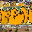 Urban graffiti close-up — Stock Photo