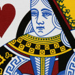 Hearts queen — Stock Photo