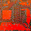 Royalty-Free Stock Photo: Red circuit board