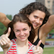 Two teen girls — Stock Photo
