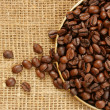 Stock Photo: Plate of coffee beans