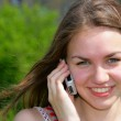 Girl with cell phone — Stock Photo