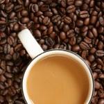 Coffee with milk — Stock Photo