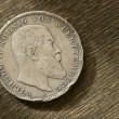 Stock Photo: Germsilver coin. 1910 year.