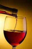 Wine pour into glass — Stock Photo