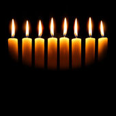 Channukah candles — Stock Photo
