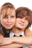 Attractive young couple close-up — Stock Photo