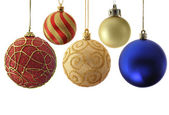 Variety christmas balls — Stock Photo