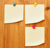 Three blank notes — Stock Photo