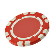 Red casino chip — Stock Photo