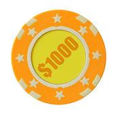 Fichas de casino 1 mil dólares — Foto de Stock
