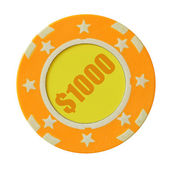 Jeden tisíc dolarů casino čip — Stock fotografie