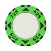 25 dollars casino chip — Stock Photo