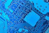 Blue circuit board — Stock Photo