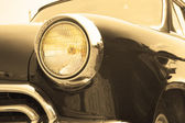 Headlight sepia — Stock Photo