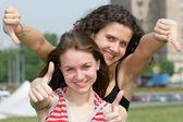 Two teen girls — Stock Photo