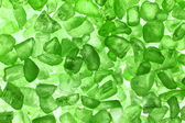 Green crystals backgound — Stock Photo