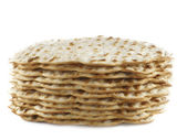 Matzoh - jewish passover bread close-up — Stock Photo