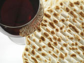 Wine and matzoh — Photo