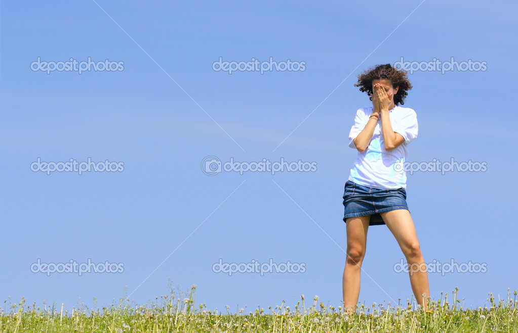 Tiener meisje huilen stockfoto zoooom 1440896 - Tiener meubilair ruimte meisje ...