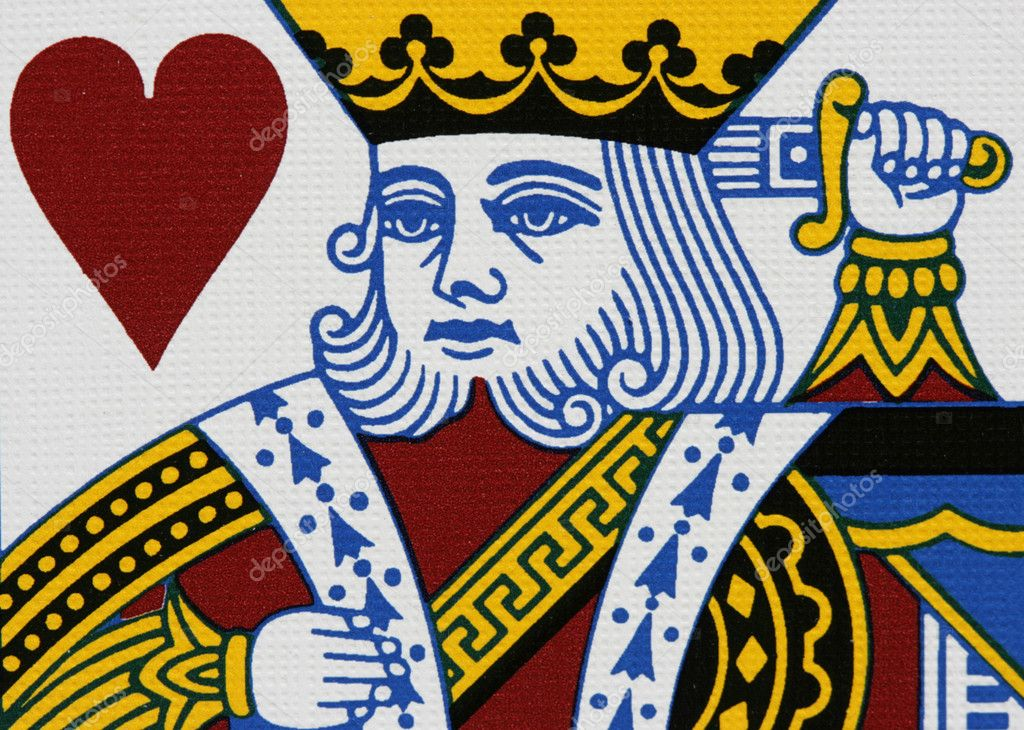 Hearts king portrait close-up  Stock Photo #1446083