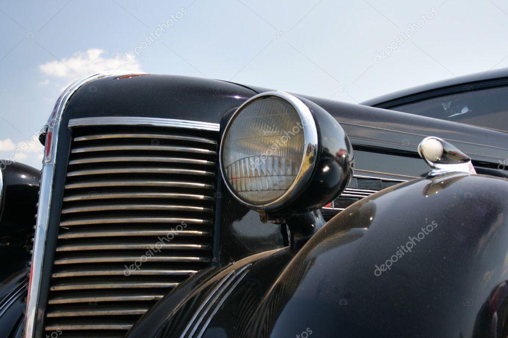Vintage Auto Headlight Styles : Radiator enclosure s — stock photo zoooom