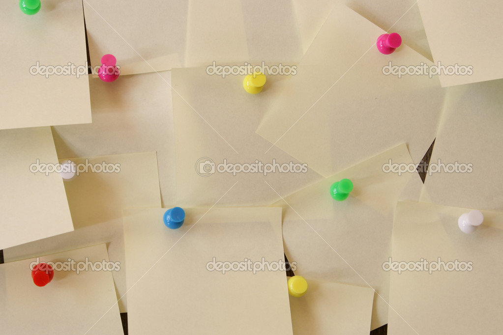 Lots of blank notes attached to a wall — Stock Photo #1446404