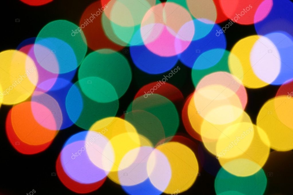 Christmas festive illumination out of focus, may be used as background — Stock Photo #1446522
