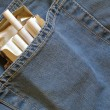 Cigarettes pack within pocket — Stok Fotoğraf #1450435